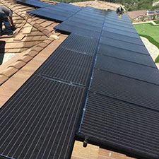 Up Close View of Solar Panels on Home Roof