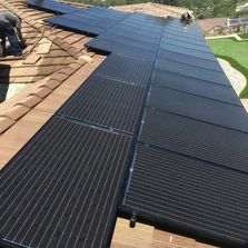 Up Close View of Solar Panels on Home